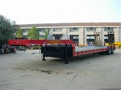 low bed semi trailer truck trailer china ltd