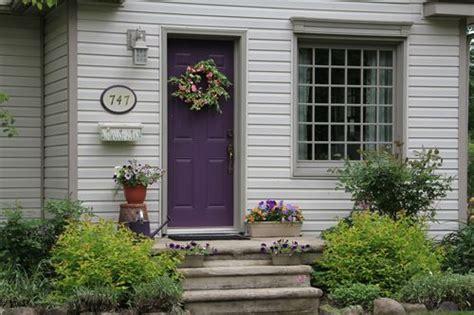 Purple Front Door Paint Colors Front Door Paint Colors Adding Curb Appeal Reader Question Paint Colors Plum Color And