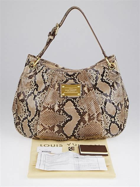 Limited Edition Python Heloise Bag by Louis Vuitton Limited Edition Brown Python Galliera