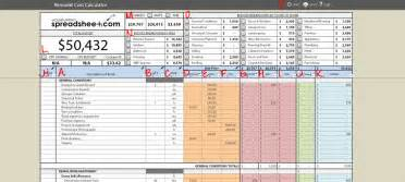 log home replacement cost estimator download