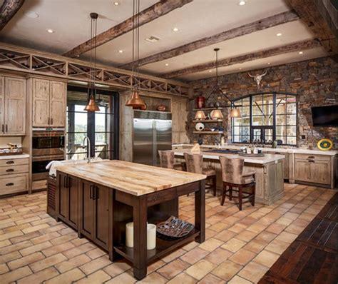 cuisine avec bar am駻icain 14 beaux designs de cuisine rustique avec des poutres en
