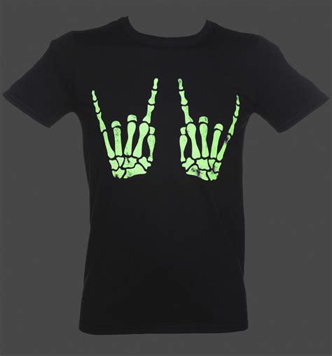 Tshirt Robotic Glow In The s skeleton glow in the t shirt ebay