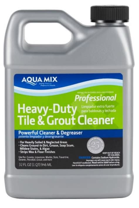 aqua mix heavy duty tile and grout cleaner quart ebay