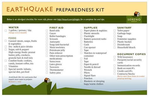 earthquake list earthquake preparedness preparing for disasters