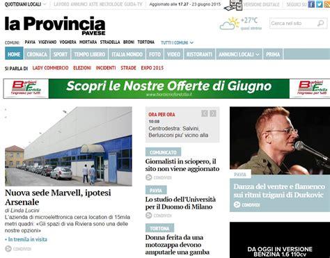 la provincia di pavia giornale sciopero de la provincia pavese no edicola e sito fermo