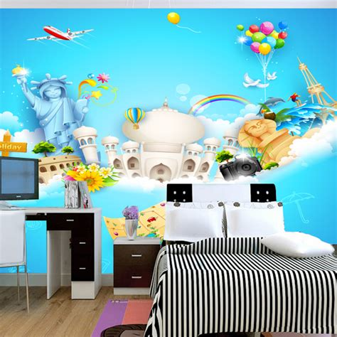 wallpaper childrens room a large children s room mural wallpaper real eco