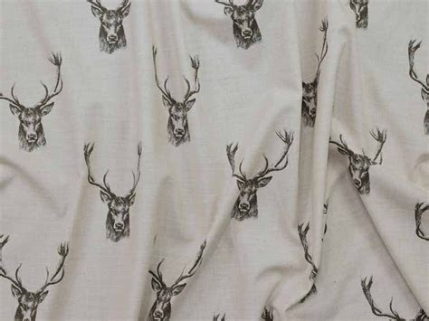 stag print curtains stag 100 cotton fabric curtain fabric