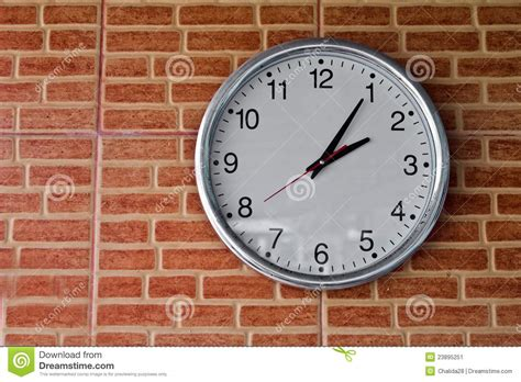 Wall Clock Digital clock on the wall stock image image 23895251