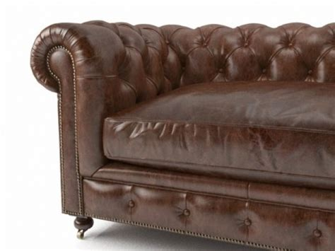 Kensington Leather Sofa 60 Quot Kensington Leather Sofa 3d Model Restoration Hardware