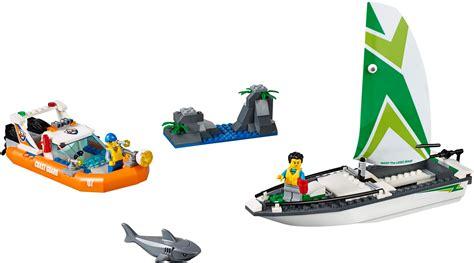 lego boat rescue lego 60168 sailboat rescue city brickbuilder australia
