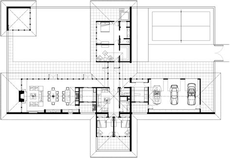 floor plan of a modern house mid century modern house plan plans ranch floor interiors