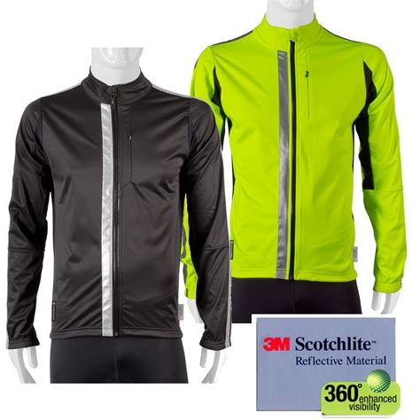 reflective bicycle jacket 3m scotchlite reflective 360 high visibility full zip