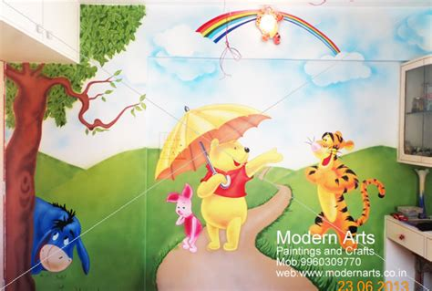cartoon wall painting in bedroom modern arts paintings crafts specialize in kids room wall paintings kids room