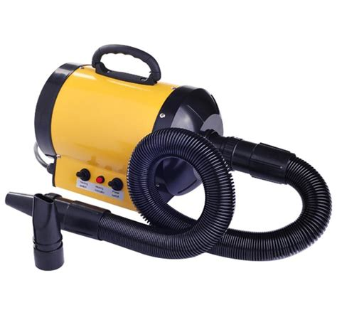Hair Dryer Grooming homcom pet hair dryer for grooming yellow aosom co uk
