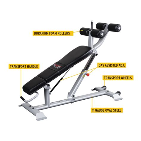 body solid ab crunch bench 2017 new body solid sab500 commercial ab crunch bench
