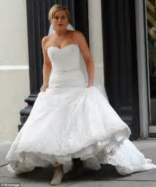 That was quick! Amy Poehler is back in wedding dress weeks