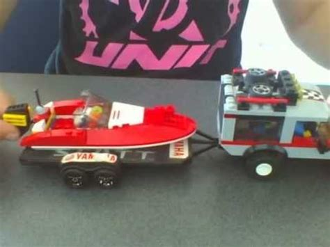 lego boat and truck lego speed boat with boat trailer youtube