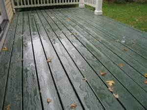 Deck painted with organic allback linseed oil paint