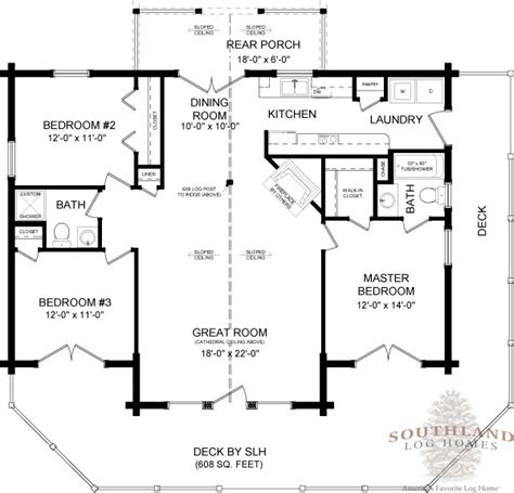 wateree iv plans information southland log homes wateree iii plans information southland log homes