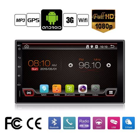 aliexpress buy 2 din android 4 4 touch car pc