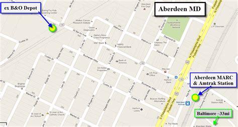 maryland map aberdeen aberdeen md railfan guide
