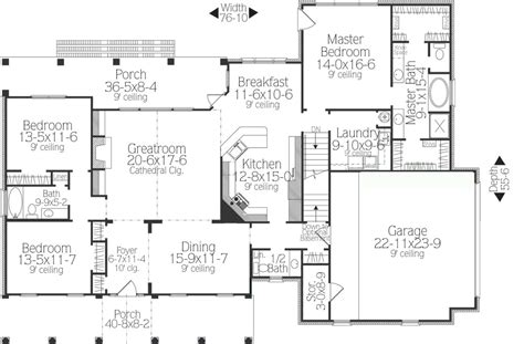 What Makes A Split Bedroom Floor Plan Ideal The House Country House Plans With No Dining Room