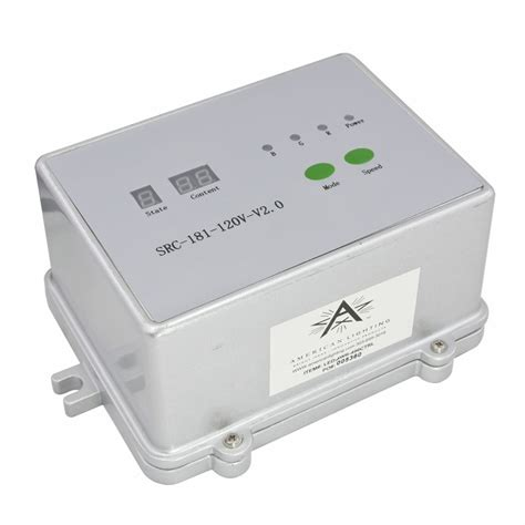 dmx interface controller for 120v 4 wire rgb led lighting
