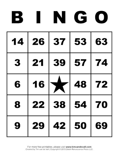 Free Printable Bingo Cards Pdfs With Numbers And Tokens Bingo Card Template Free