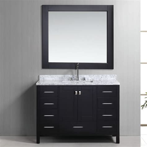 Vanity Table With Drawers Moveable Black Vanity Table With Drawers With White Marble Vanitytop Homes Showcase