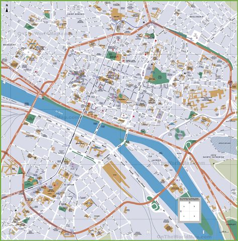 tourist map of rouen tourist map