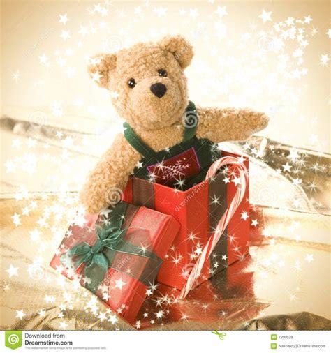 cute teddy bear in gift box stock image image 7290529