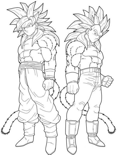 Vegeta And Goku Super Saiyan 4 Coloring Pages Dragon Goku Saiyan 4 Coloring Pages