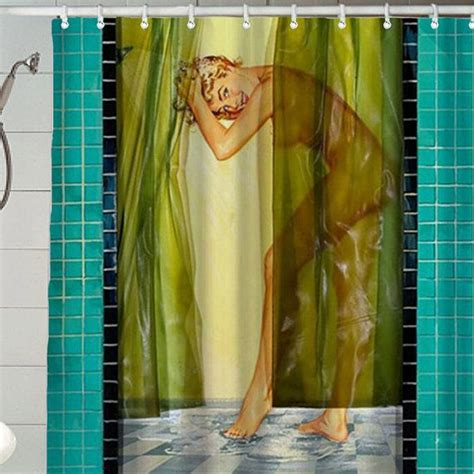 pin up shower curtains vintage pin up girls shower curtain hot girls wallpaper