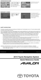 motor repair manual 2010 toyota avalon security system 2010 toyota avalon research