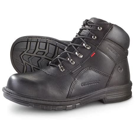 wolverine steel toe boots s wolverine 174 6 quot fusion 180 degree waterproof steel toe