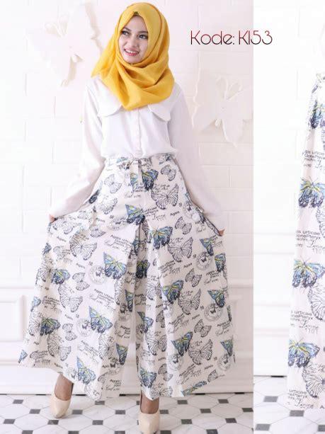 Setelan Stelan Rok Kulot Linen Ramy Atasan Katun Imma Platinum 7 kulot rami butterfly k153 baju style ootd
