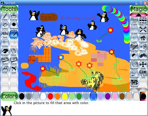 tux painting drawing software for softpedia