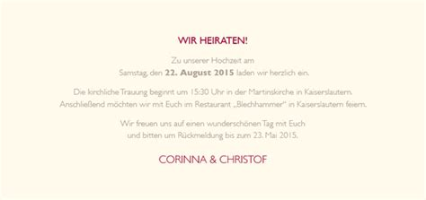 Hochzeitseinladung Schlicht by Hochzeitseinladung Namhaft Dunkelrot