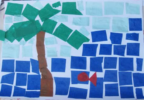 How To Make Mosaic With Paper - tissue paper mosaics with