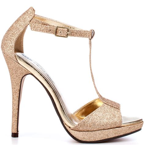 Gold 3 Inch Heels   Is Heel