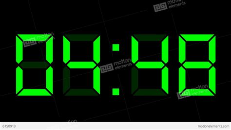 digital time lapse digital clock 12h time lapse stock animation 6150913