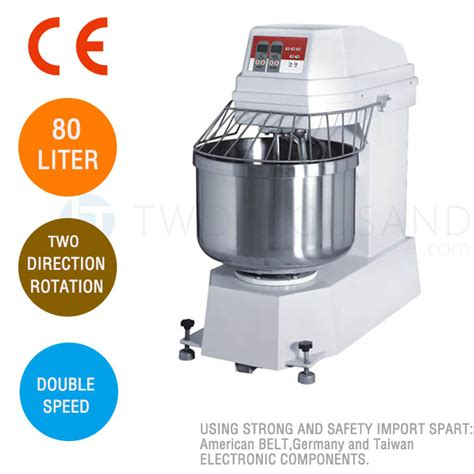 Spiral Mixer Kapasitas 20 Liter dough mixer 80 liters digital speed ce hs80d