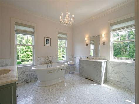 vanities facing each other transitional bathroom
