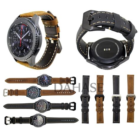 Sale Samsung Galaxy Gear S3 Frontier Original Promo Price Pp135 dahase genuine leather for samsung gear s3 frontier smart band replacement bracelet