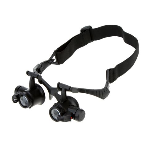 10x magnifying glass with led light 10x 15x 20x 25x binocular loupe glasses magnifier