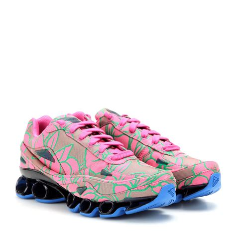 lyst adidas by raf simons bounce jacquard sneakers in pink
