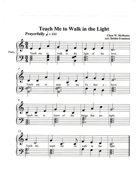 teach me to walk in the light sheet pin by mrs g on let s play