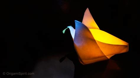 Origami Peace - peace dove how to make an origami container in the shape