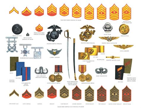 marine corps ranks file marineenlisteduniformaccessories png wikimedia commons