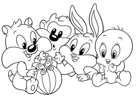 baby looney tunes coloring pages games baby looney tunes coloring pages games color bros